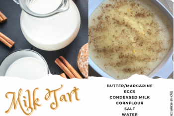 South African Microwave Milk Tart