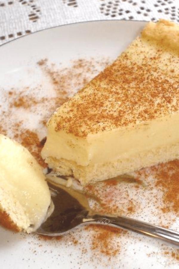 Milk tart slice